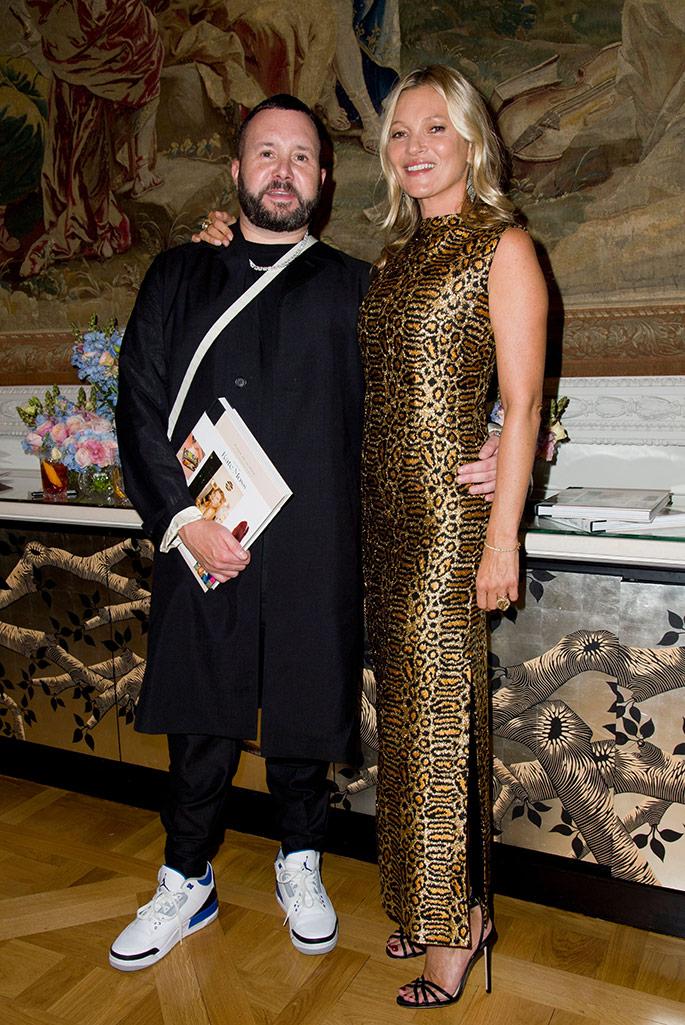 Kate Moss and Kim Jones.