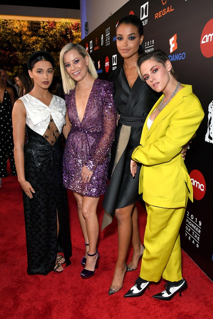 Naomi Scott, Elizabeth Banks, Ella Balinska and Kristen StewartPioneer of the Year Dinner Honoring Elizabeth Banks, Arrivals, The Beverly Hilton, Los Angeles, USA - 25 Sep 2019