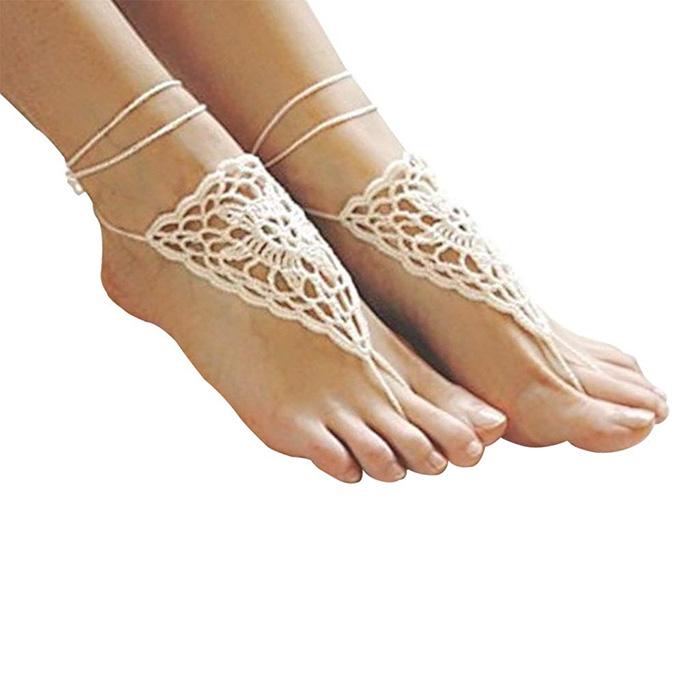 Lgege Crochet Barefoot Sandals