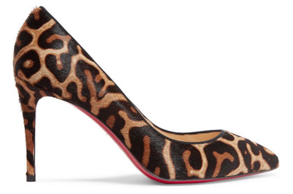 Christian Louboutin, leopard print pumps, calf hair, pigalle follies, Mariah Carey