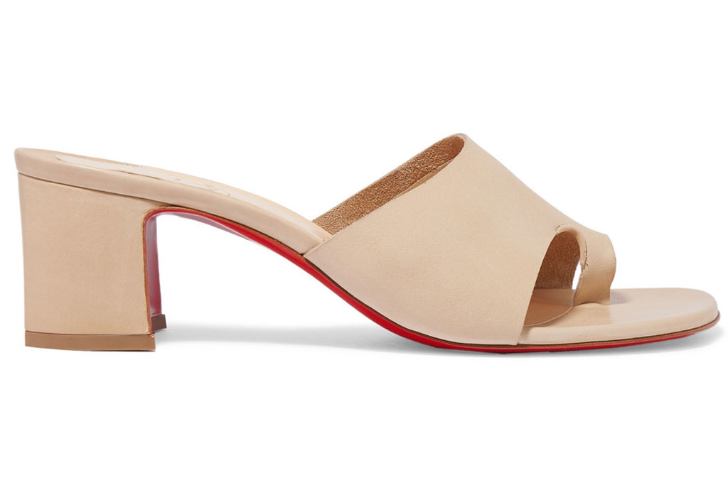 Christian Louboutin, viberta, mules, big-toe sandals