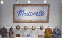 Inside the Madewell store on Fifth