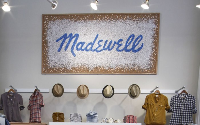 Inside the Madewell store on Fifth Avenue in New York City