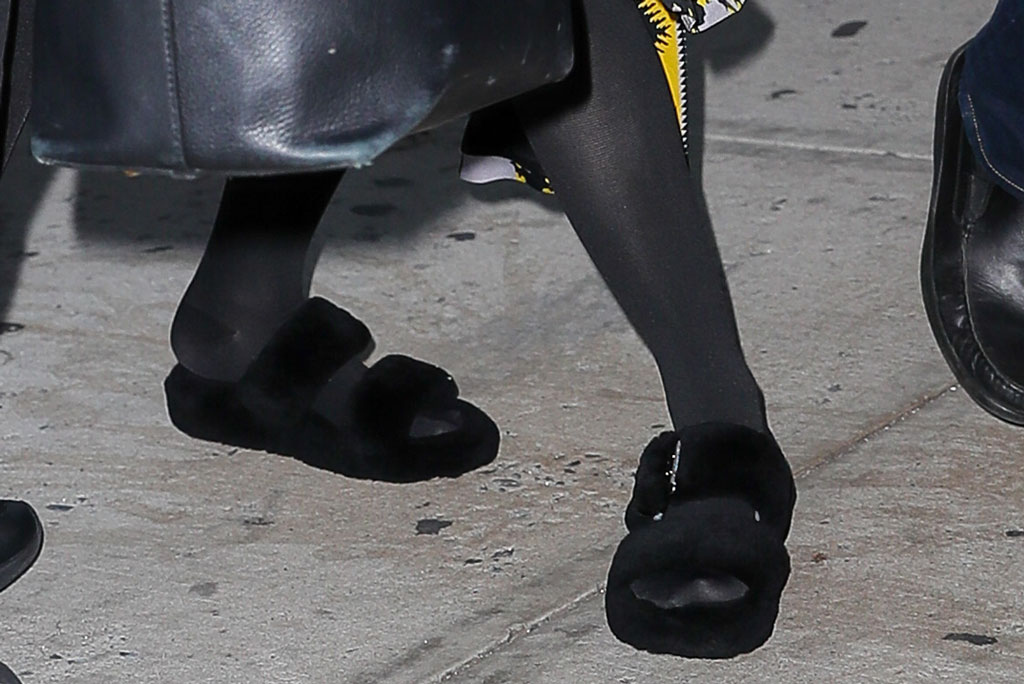 Madonna, ugg slippers, fuzz yeah, nyc, celebrity shoe style, September 2019
