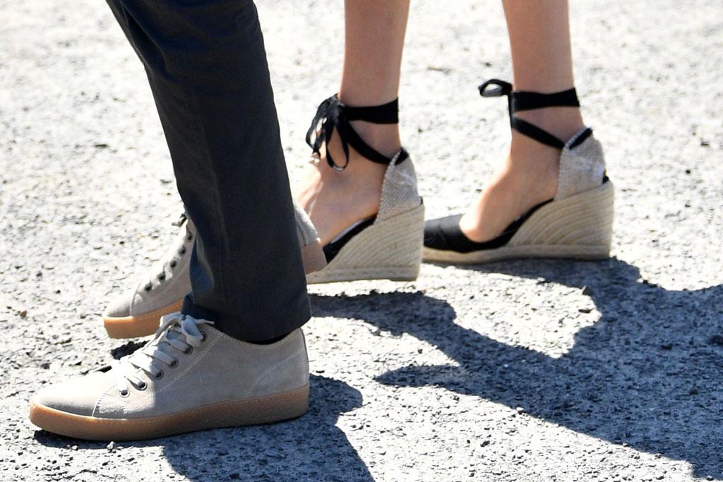 Prince Harry, nude sneakers, castaner wedges, espadrille sandals, Meghan Markle