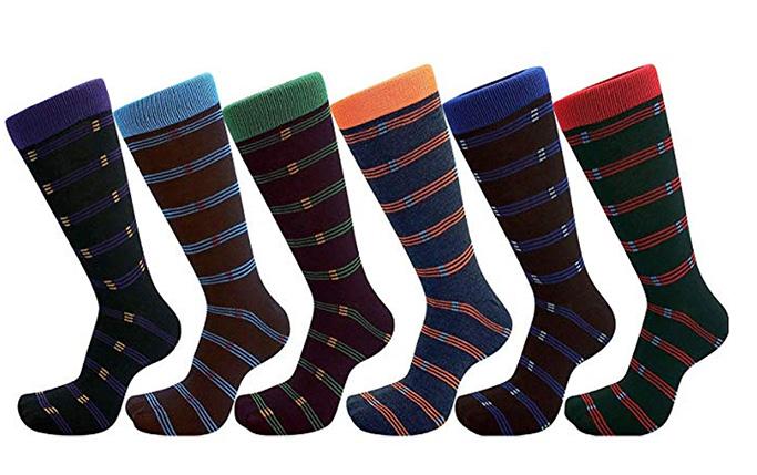 USBingoshop mens dress socks, big and tall