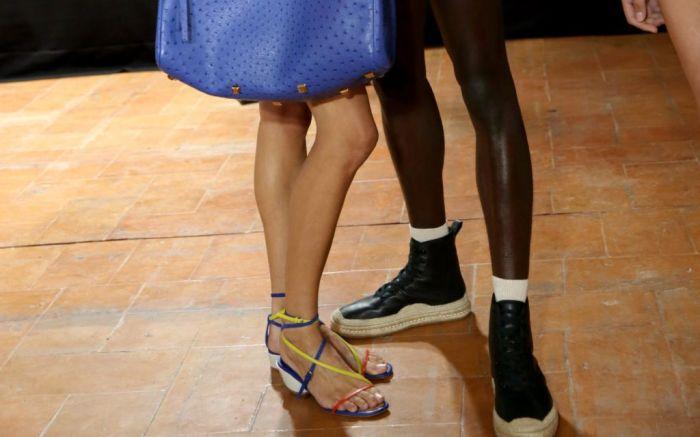Ferragamo, spring 2020, backstage, shoes