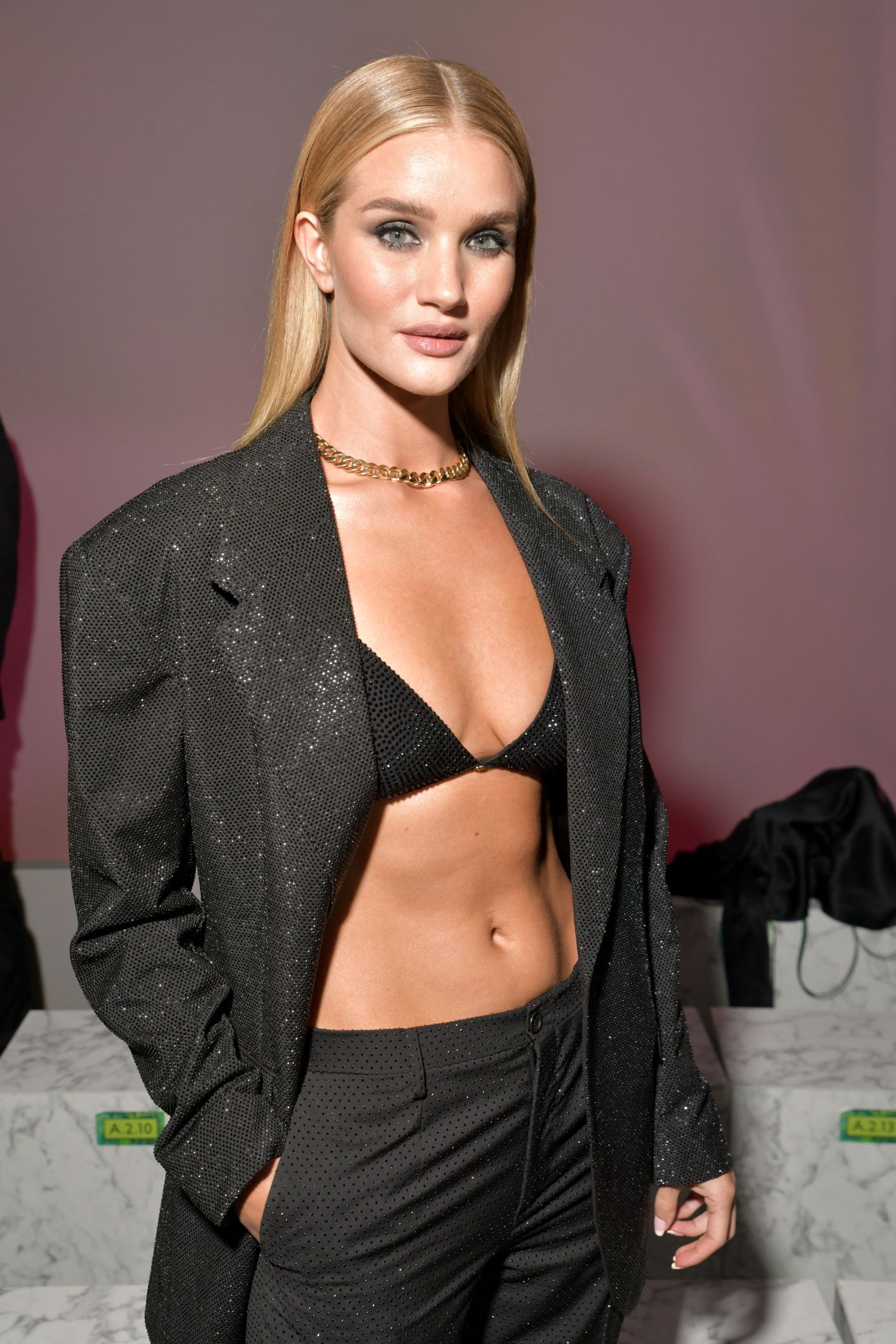 mfw, milan fashion week, milan, front row, celebrities, spring '20, ss20, rosie huntington whiteley, versace