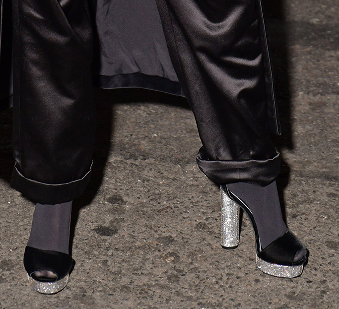 shoes, Miley Cyrus in the front rowTom Ford show, Front Row, Spring Summer 2020, New York Fashion Week, USA - 09 Sep 2019