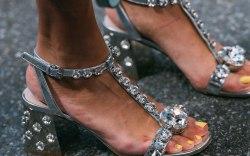 Miu Miu, sandals, nyfw, street style