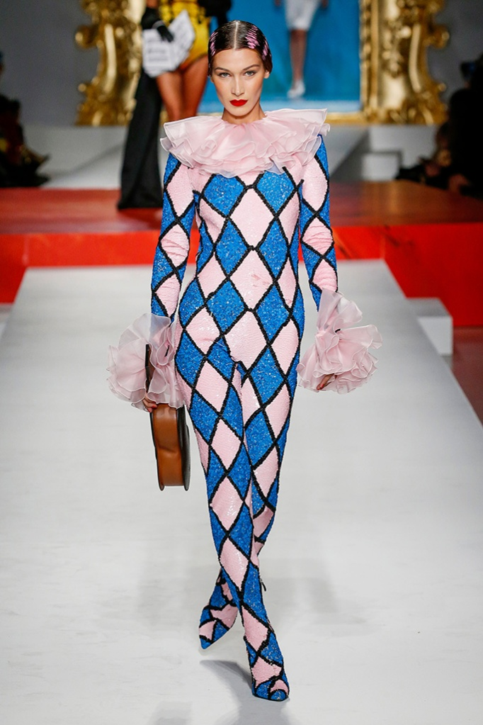Bella Hadid on the catwalkMoschino show, Runway, Spring Summer 2020, Milan Fashion Week, Italy - 19 Sep 2019