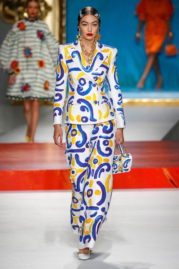 Gigi Hadid on the catwalkMoschino show, Runway, Spring Summer 2020, Milan Fashion Week, Italy - 19 Sep 2019
