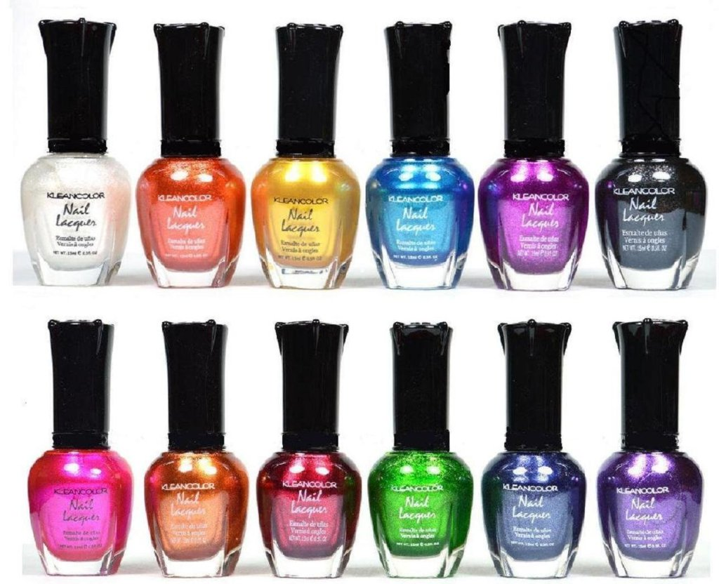 nail polish, metallics
