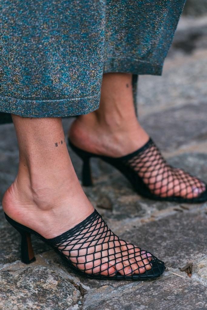 Neous, spring 2020, nyfw, street style, New York fashion week, mesh pumps