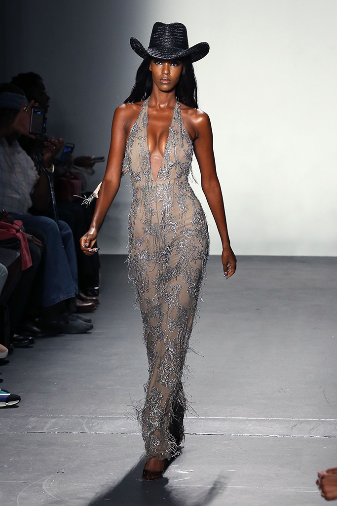 Model on the catwalkLaquan Smith show, Runway, Spring Summer 2020, New York Fashion Week, USA - 08 Sep 2019