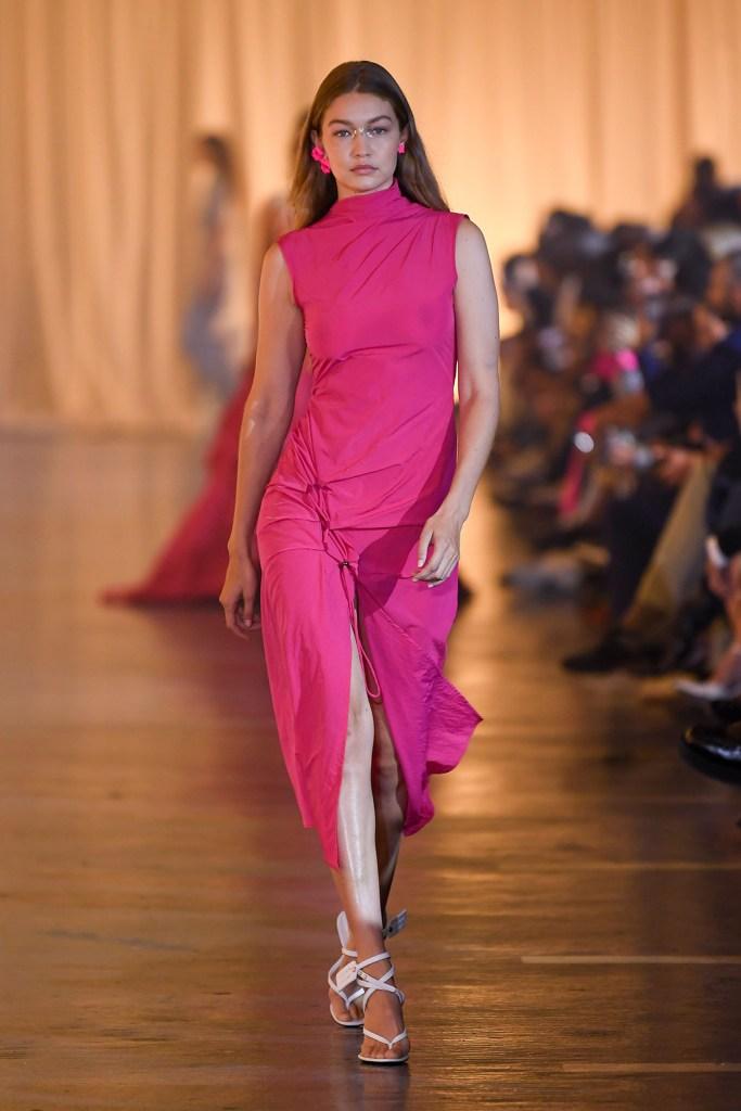 Gigi Hadid on the catwalkOff-White show, Runway, Spring Summer 2020, Paris Fashion Week, France - 26 Sep 2019