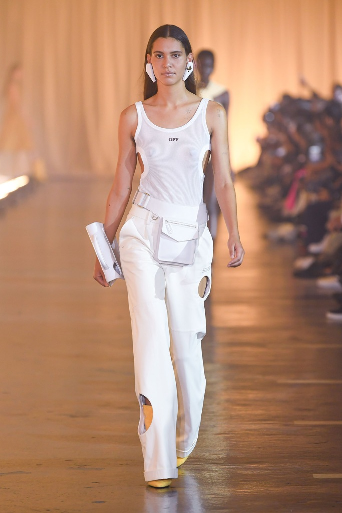 Model on the catwalkOff-White show, Runway, Spring Summer 2020, Paris Fashion Week, France - 26 Sep 2019