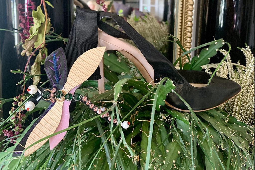Olgana Paris dragonfly pump, spring '20, Paris Fashion Week.