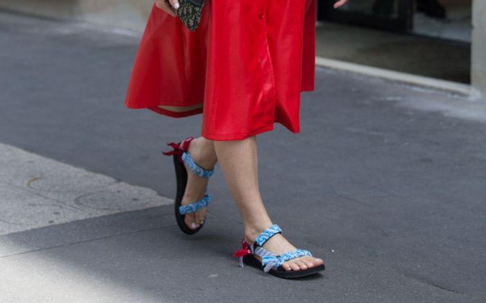 teva, sandal, paris, couture, 2019, ugly, sandal