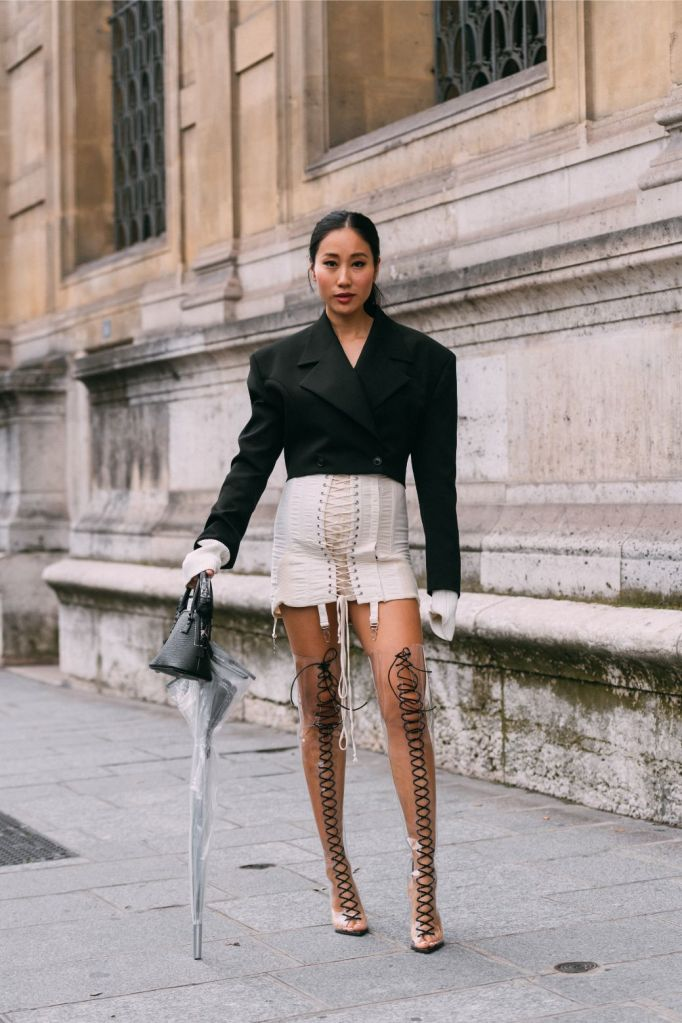 Jamie Wu in Gianvito Rossi