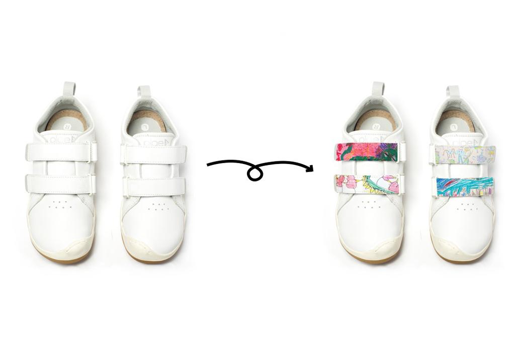 Plae Designer Tab Customized Kids Sneakers