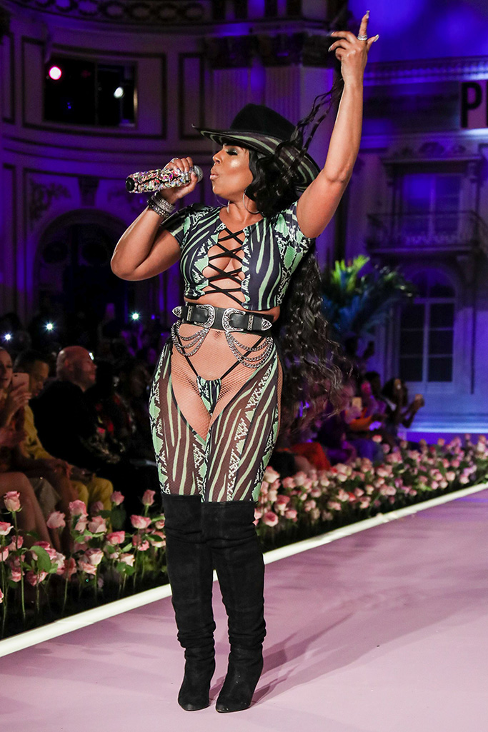 Ashanti on the catwalkPrettyLittleThing x Saweetie show, Runway, Spring Summer 2020, New York Fashion Week, USA - 08 Sep 2019