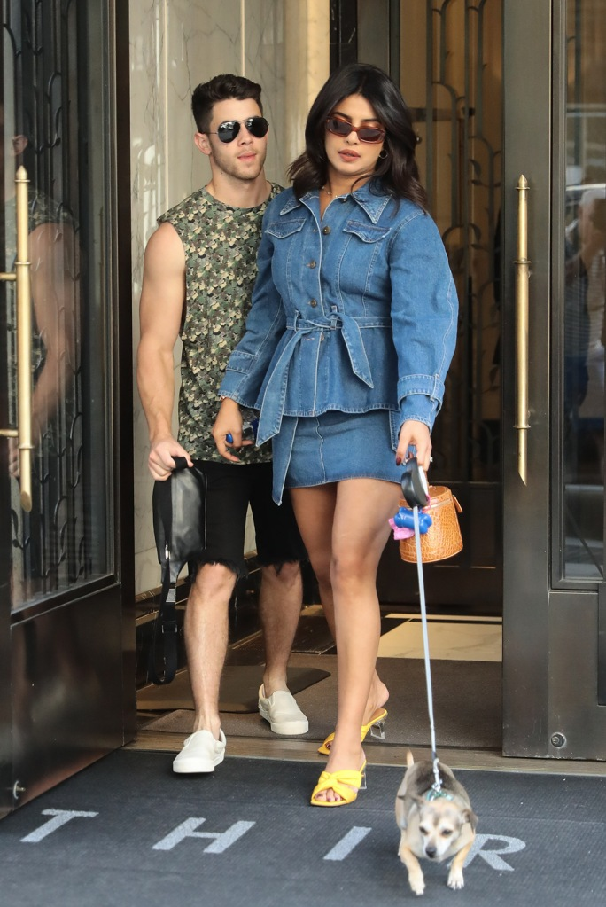 Nick Jonas with his wife Priyanka Chopra leaves home in New YorkPictured: Nick Jonas,Priyanka ChopraRef: SPL5112151 310819 NON-EXCLUSIVEPicture by: SplashNews.comSplash News and PicturesLos Angeles: 310-821-2666New York: 212-619-2666London: 0207 644 7656Milan: +39 02 56567623photodesk@splashnews.comWorld Rights