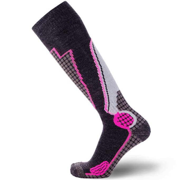 pure athlete wool ski socks for women