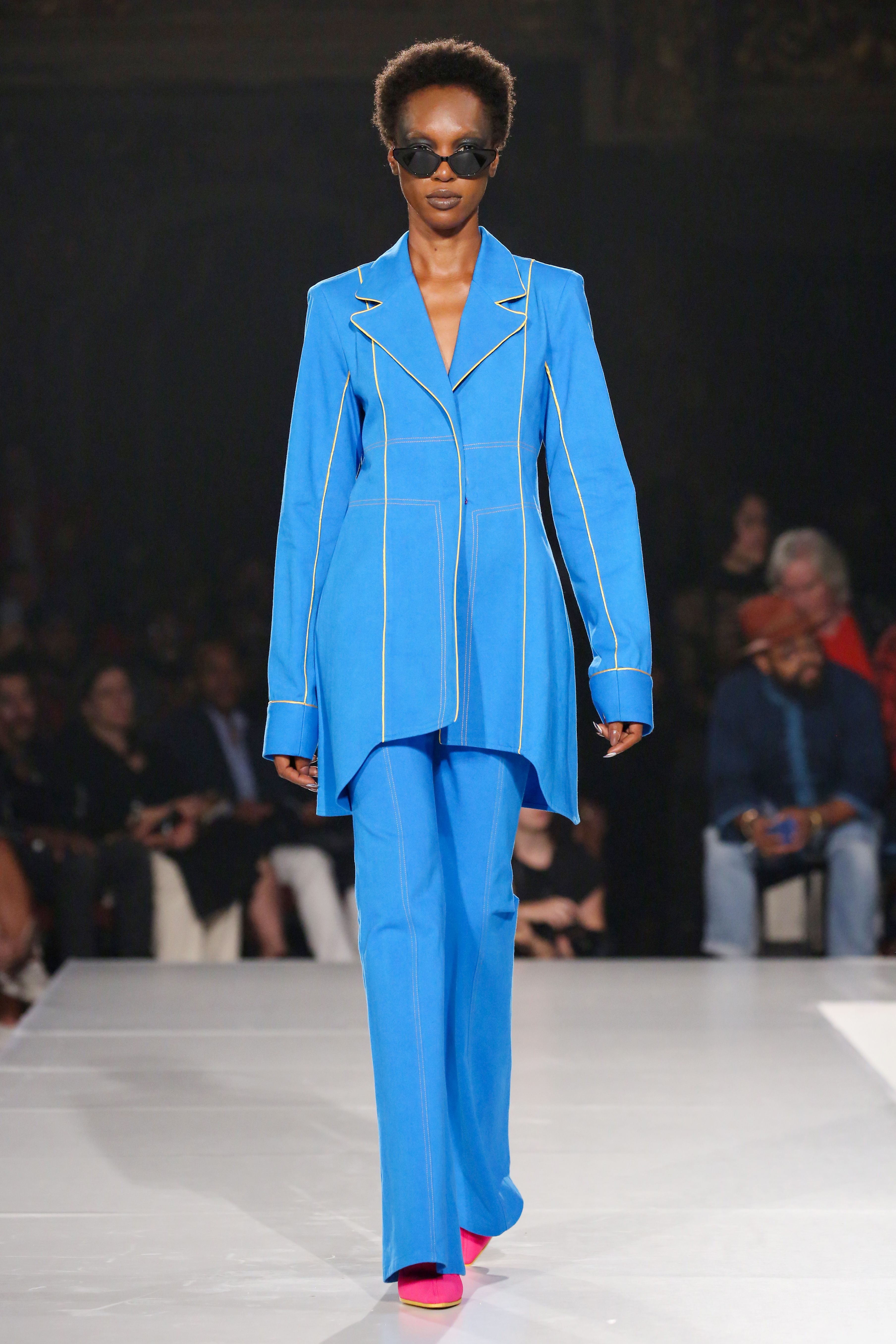 Model on the catwalkPyer Moss Collection 3, Runway, Spring Summer 2020, New York Fashion Week, USA - 08 Sep 2019