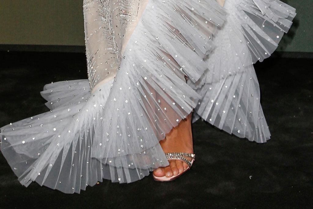 Rita Ora, amfar gala, celebrity style, toes, pedicure, red carpet,