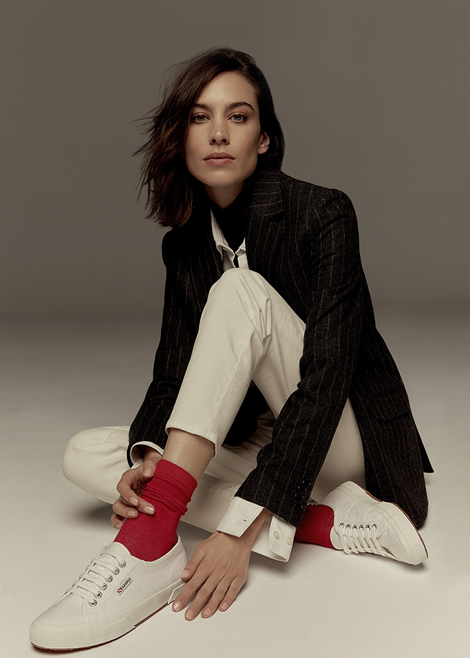 alexa chung, superga collection, collaboration, shoes