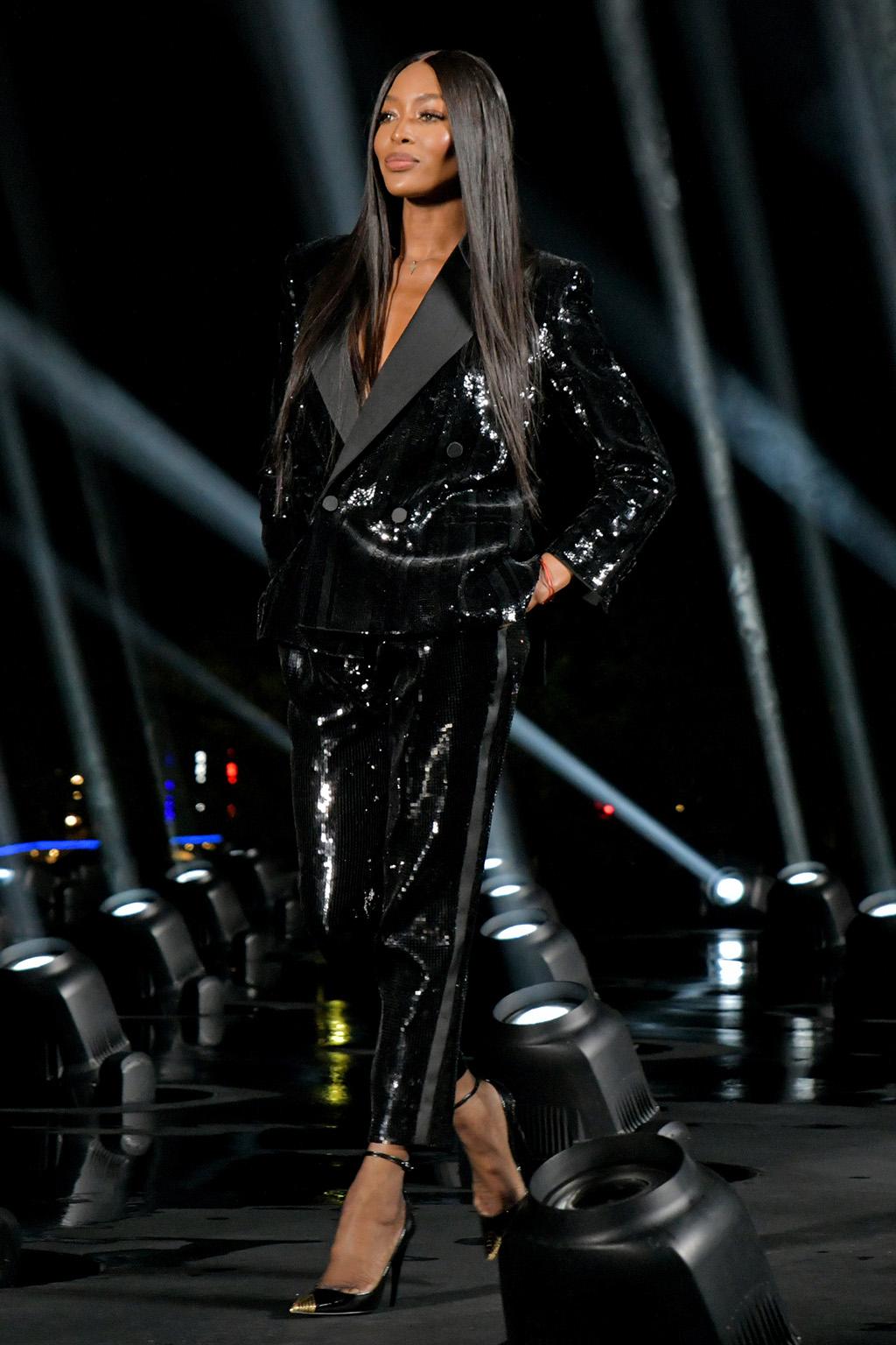 Naomi Campbell on the catwalkSaint Laurent show, Runway, Spring Summer 2020, Paris Fashion Week, France - 24 Sep 2019