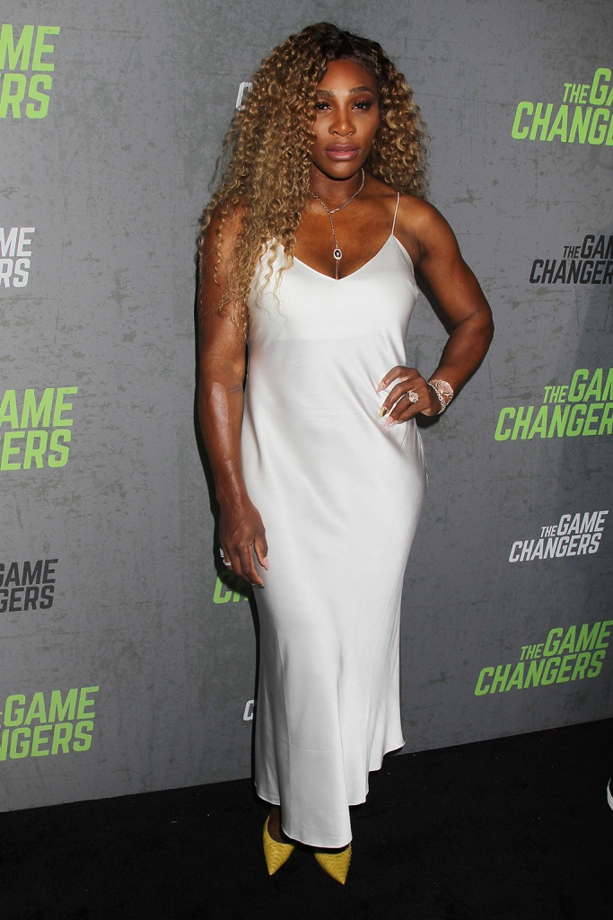 Serena Williams, the game changers, slip dress, yellow pumps, celebrity style, New York Red Carpet Premiere of Academy Award-Winning Director, Louie Psihoyos' 'The Game Changers', USA - 09 Sep 2019