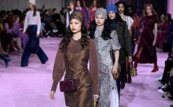 Models on the catwalk Kate Spade