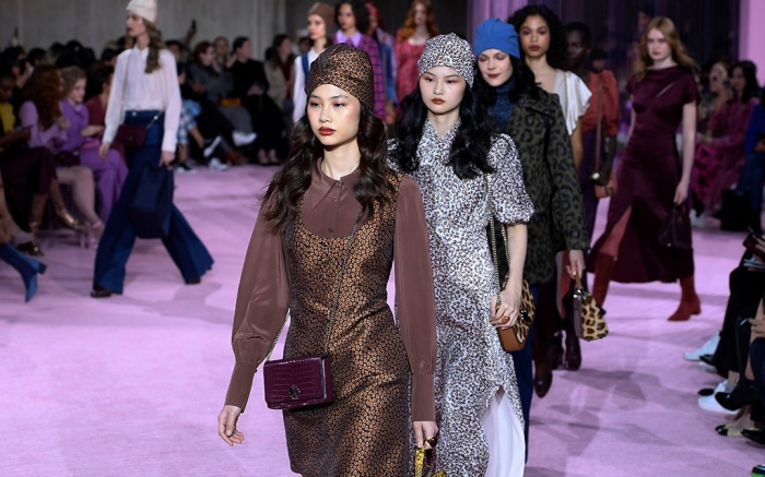 Models on the catwalk Kate Spade show, Runway, Fall Winter 2019, New York Fashion Week, USA - 08 Feb 2019