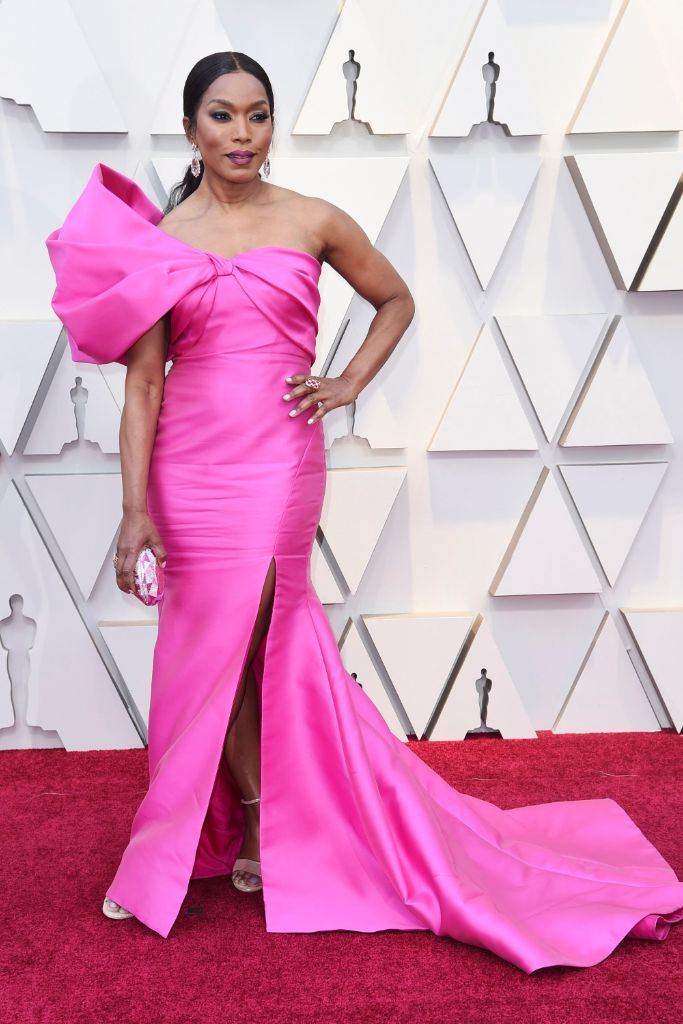 angela, bassett, oscars, 2019, hot, pink, color, trend, spring, 2020