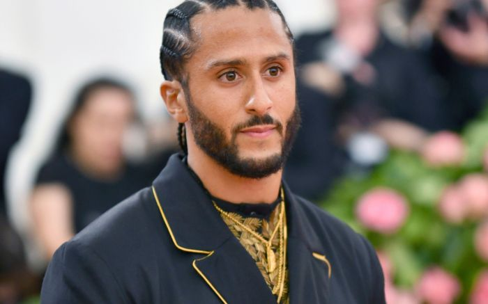 """Colin Kaepernick attends The Metropolitan Museum of Art's Costume Institute benefit gala celebrating the opening of the """"Camp: Notes on Fashion"""" exhibition, in New York2019 MET Museum Costume Institute Benefit Gala, New York, USA - 06 May 2019"""