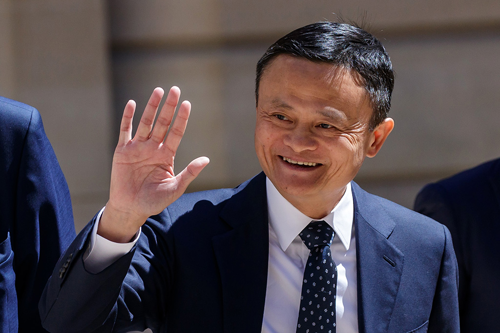 Jack Ma, Executive chairman and co-founder of Alibaba Group arrives at the Tech for Good summit, in Paris, France, 15 May 2019. Tech for Good summit is held at Elysee palace with several world leaders and tech bosses as part of the 'Christchurch Call' meeting which aims at ways to tackle and eliminate terrorism and violent extremist content online.'Christchurch call' meeting in Paris, France - 15 May 2019
