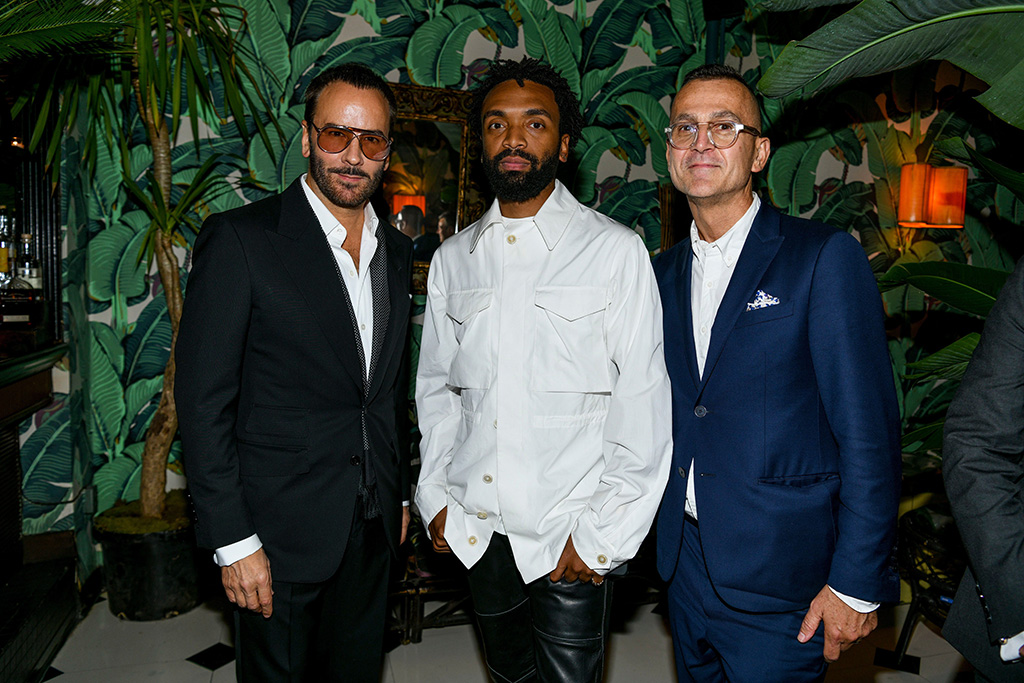 Tom Ford, Kerby Jean-Raymond and Steven Kolb at the CFDA NYFW Dinner, September 6, 2019, nyfw parties, spring summer 2020