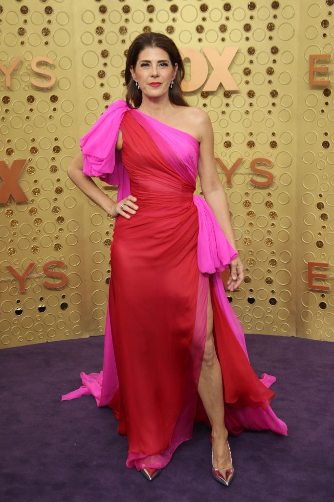 hot, pink, spring, 2020, color, trend, marisa, tomei, emmy, awards, 2019