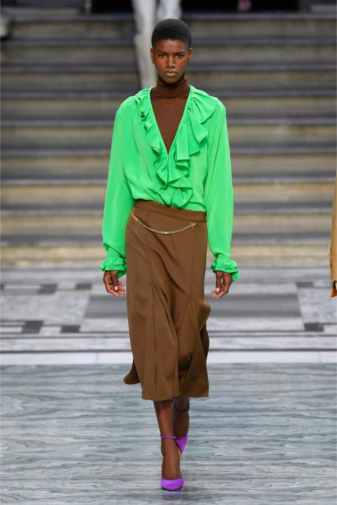 Victoria Beckham, runway, London fashion week, model, spring 2020