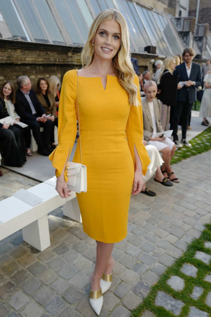 Lady Kitty Spencer in the front rowRoland Mouret show, Front Row, Spring Summer 2020, London Fashion Week, UK - 15 Sep 2019Wearing Roland Mouret