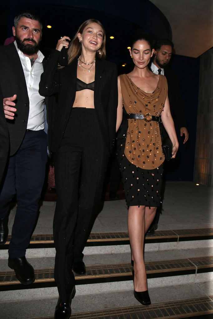 Gigi Hadid, lily Aldridge, lfw, Love Magazine Party, Arrivals, Spring Summer 2020, London Fashion Week, UK - 16 Sep 2019