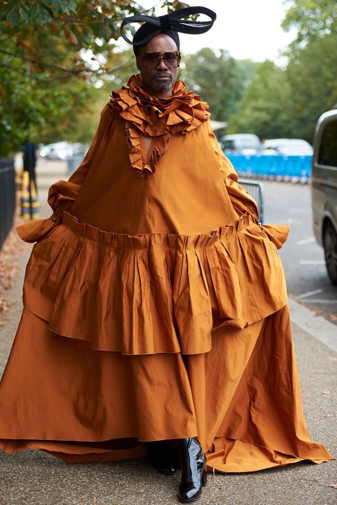 Billy PorterRoksanda show, Arrivals, Spring Summer 2020, London Fashion Week, UK - 16 Sep 2019 Wearing Roksanda Same Outfit as catwalk model *10107659b