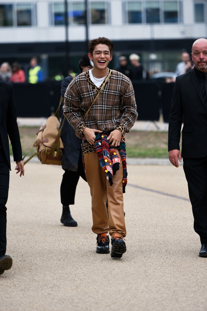 Lucas Wong of NCT leaves the Burberry showBurberry show, Departures, London Fashion Week, UK - 16 Sep 2019