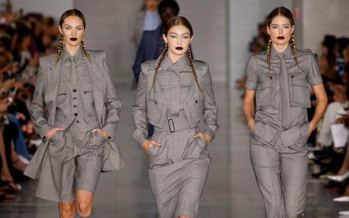 Candice Swanepoel, Gigi Hadid and Doutzen Kroes on the catwalkMax Mara show, Runway, Spring Summer 2020, Milan Fashion Week, Italy - 19 Sep 2019