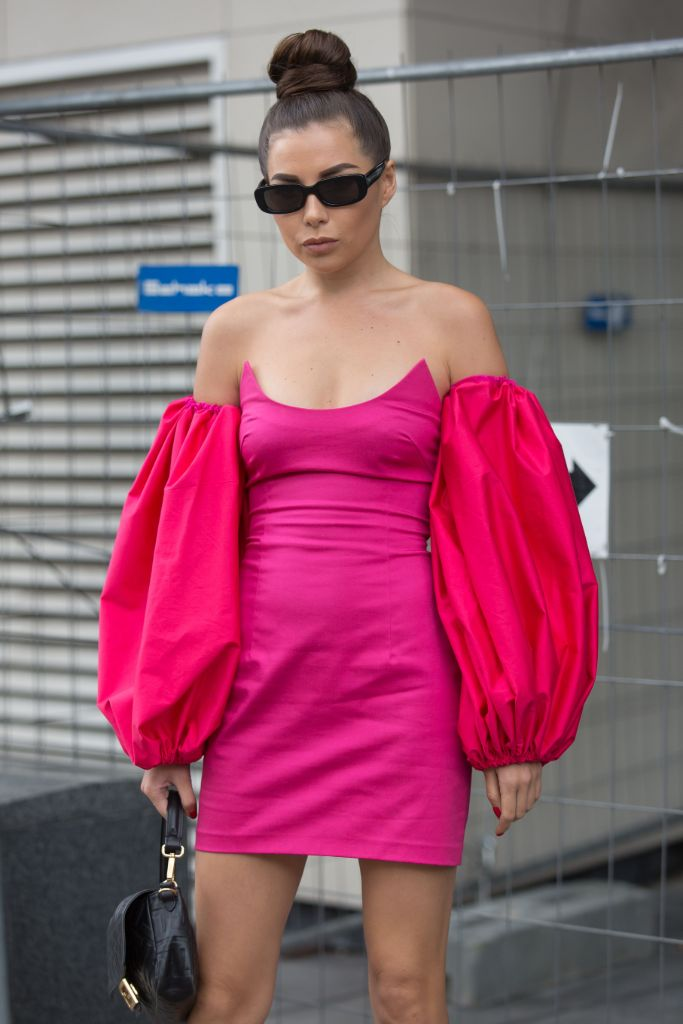 hot, pink, paris, fashion, week, spring, 2020, street, style