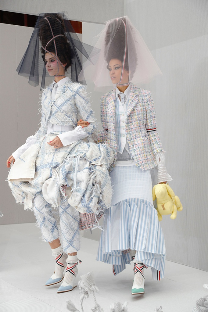 Models on the catwalk at Thom Browne's spring '20 show, ss2020, pfw