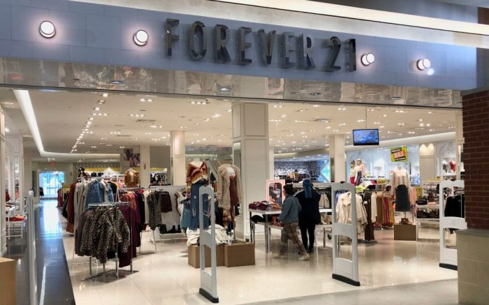 Customers arrive to shop at Forever 21, at Walden Galleria in Cheektowaga, N.Y. Forever 21 has filed for Chapter 11 bankruptcy protection. The privately held company based in Los Angeles said Sunday, Sept. 20, that it will close up to 178 stores in the U.SForever 21 Bankruptcy, Cheektowaga, USA - 30 Sep 2019