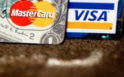 Master Card and Visa logos on